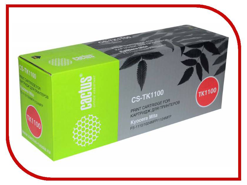 Картридж Cactus Black для Mita FS-1110/1024MFP/1124MFP тонер картридж cactus cs ep22s
