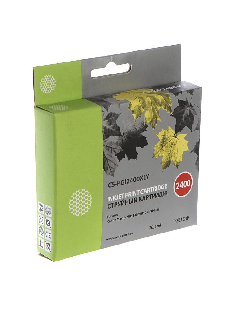Картридж Cactus CS-PGI2400XLY Yellow для Canon MAXIFY iB4040/ МВ5040/ МВ5340