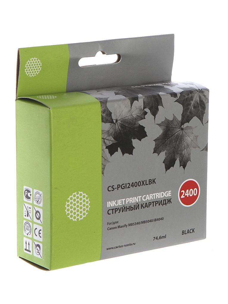 Картридж Cactus CS-PGI2400XLBK Black для Canon MAXIFY iB4040/ МВ5040/ МВ5340