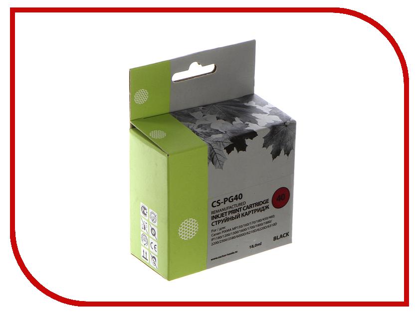 Картридж Cactus Black для Pixma MP150/MP160/MP170/MP180/MP210/MP220/MP450/MP