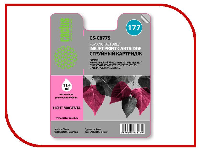 Картридж Cactus №177 Light Magenta для PS 3213/3313/8253/C5183/C6183/C6283