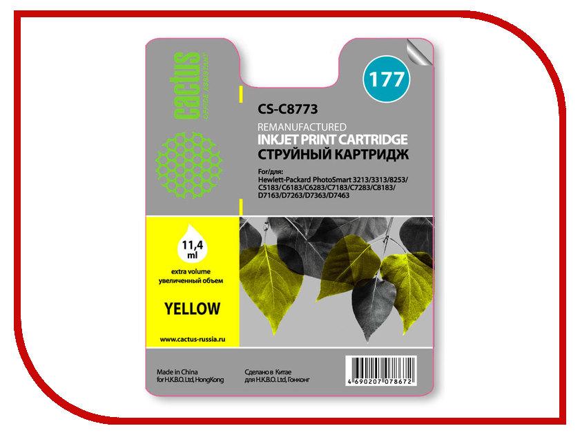 Картридж Cactus №177 Yellow для PS 3213/3313/8253/C5183/C6183/C6283/C7183/C7283