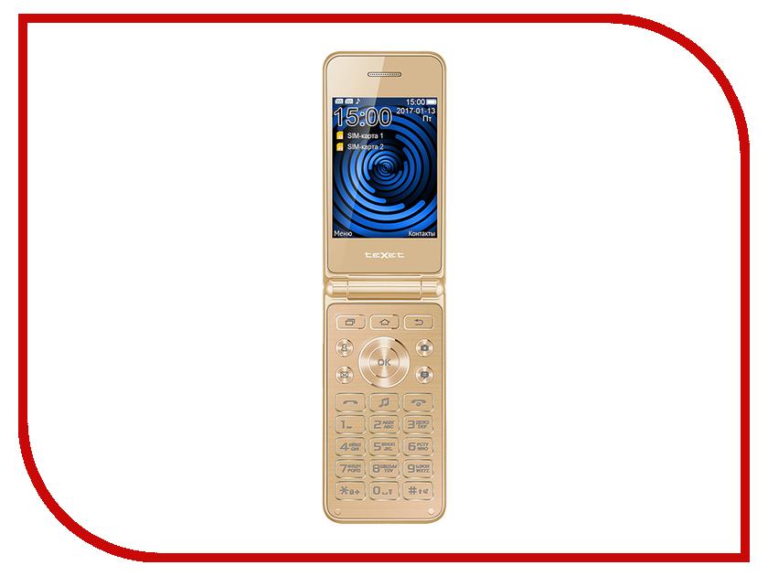 Сотовый телефон teXet TM-400 Gold мобильный телефон texet tm 401