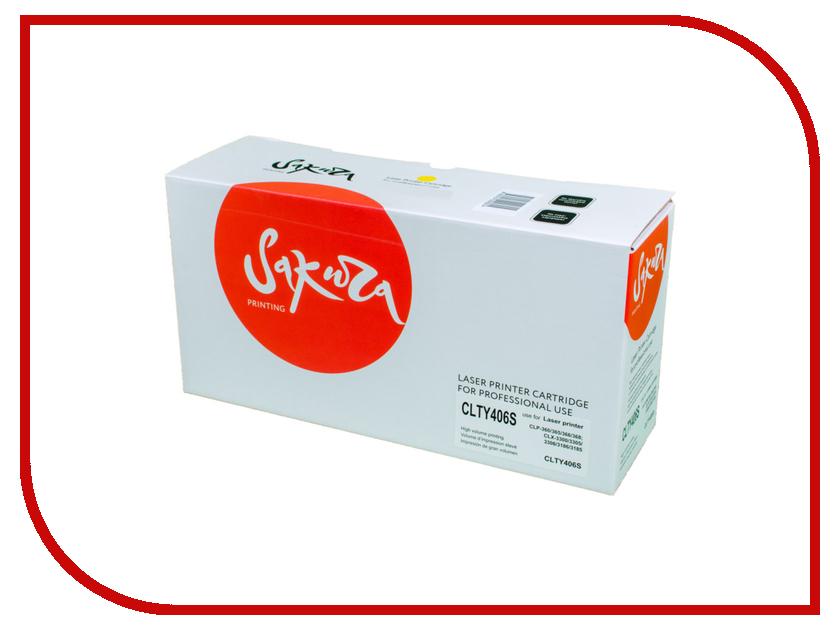 картридж для принтера и мфу samsung clt y406s yellow Картридж Sakura Yellow для CLX-3300/3305/CLP-360/365
