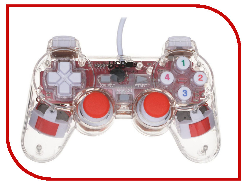 Геймпад 3Cott Single GP-01 Transparent