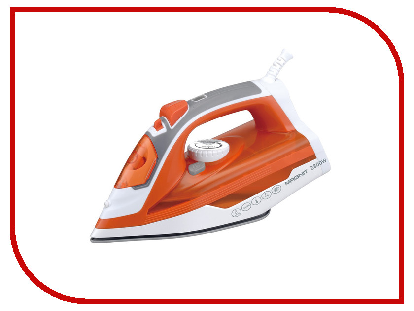 Утюг Magnit RMI-1732 Orange-White блендер magnit rmb 2522 white green