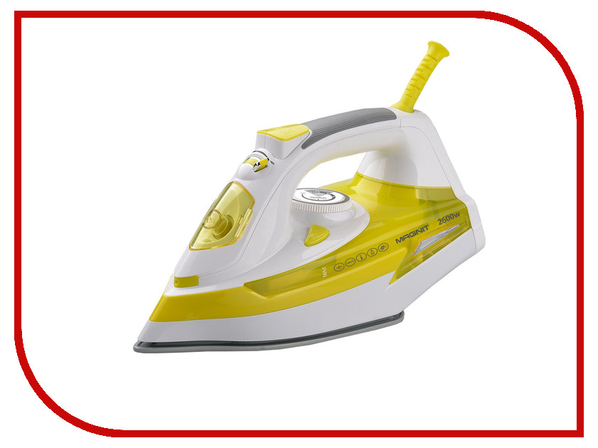 Утюг Magnit RMI-1908 Yellow-White блендер magnit rmb 2522 white green