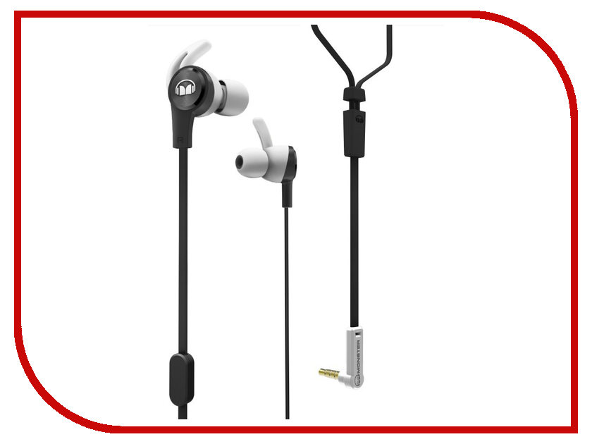 Monster iSport Achieve In-Ear Black 137092-00 monster black platinum ultimate hdmi 3m 140748 00