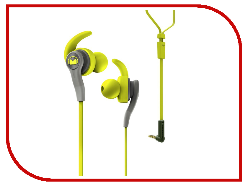 Гарнитура Monster iSport Compete In-Ear Green 137084-00 гарнитура monster isport achieve bluetooth black in ear wireless 137089 00
