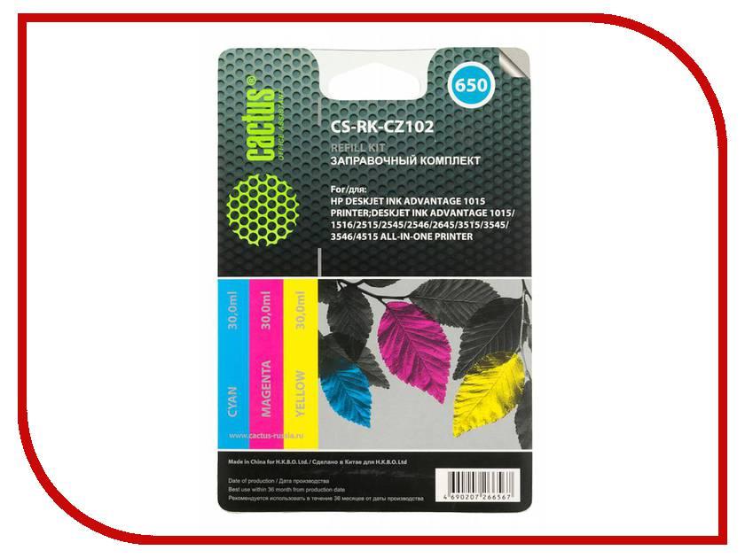 Тонер Cactus CS-RK-CZ102 Multicolor 90ml для HP DJ 2515/3515