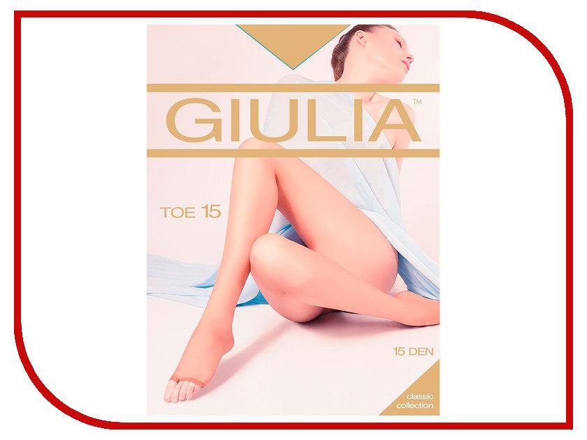 Колготки Giulia TOE размер 4 плотность 15 Den Glace колготки giulia колготки фантазия модель monica 02
