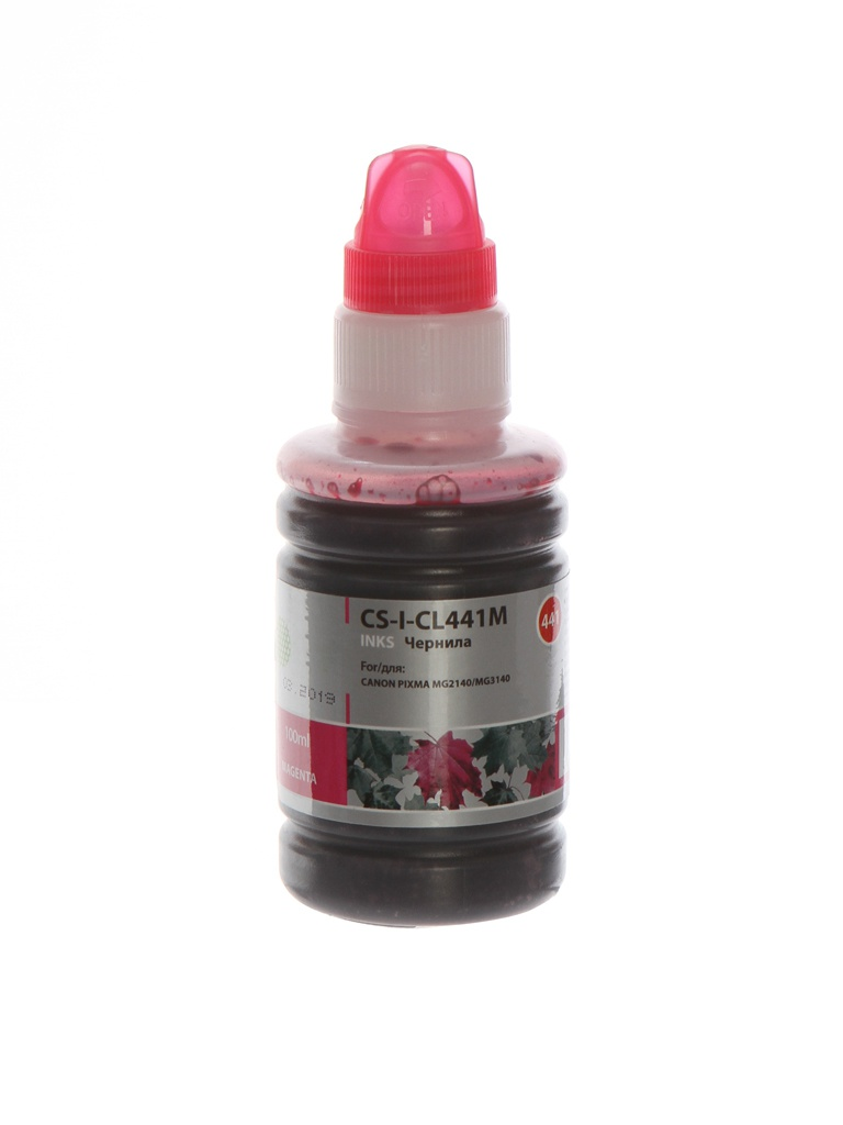 Чернила Cactus CS-I-CL441M Magenta 100ml для Canon Pixma MG2140/MG3140 чернила cactus cs i cl441y желтый 100мл canon pixma mg2140 mg3140