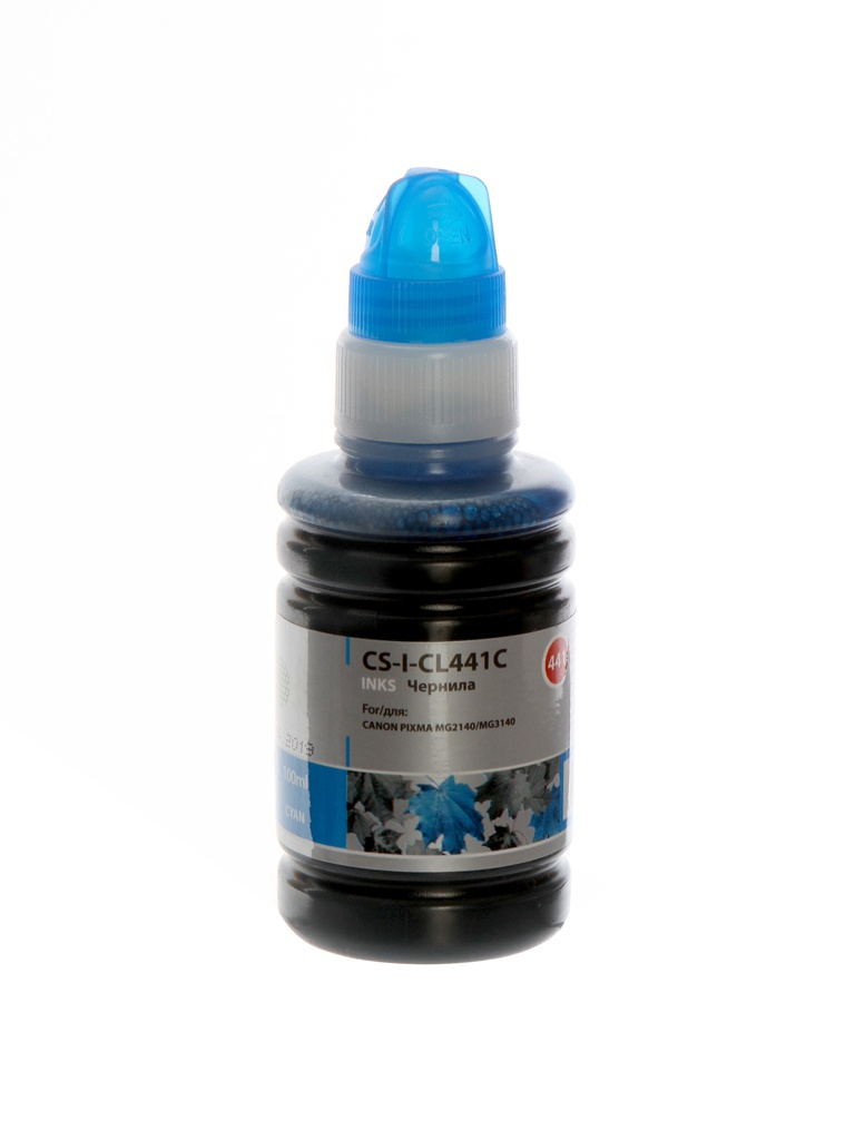 Чернила Cactus CS-I-CL441C Cyan 100ml для Canon Pixma MG2140/MG3140