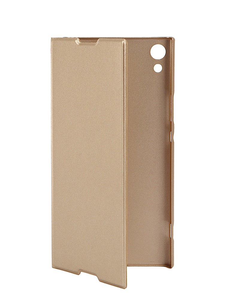 Чехол Brosco для Sony Xperia XA1 Ultra PU Gold XA1U-BOOK-GOLD