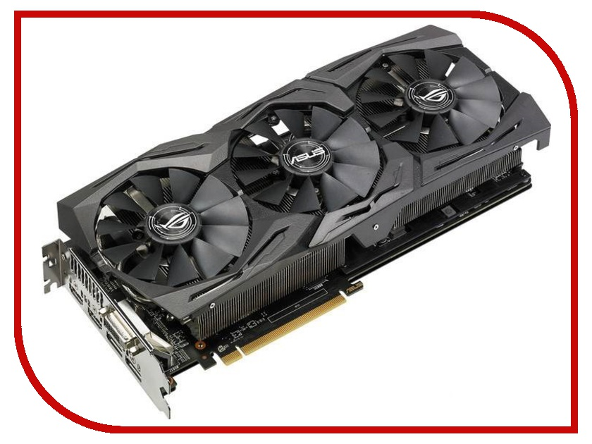 Видеокарта ASUS Radeon RX 580 1360Mhz PCI-E 3.0 8192Mb 8000Mhz 256 bit DVI 2xHDMI HDCP Strix OC Gaming ROG-STRIX-RX580-T8G-GAMING asus radeon rx 560 oc 4gb видеокарта