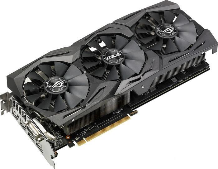 Видеокарта ASUS Radeon RX 580 1411Mhz PCI-E 3.0 8192Mb 8000Mhz 256 bit DVI 2xHDMI HDCP Strix Top Gaming ROG-STRIX-RX580-T8G-GAMING