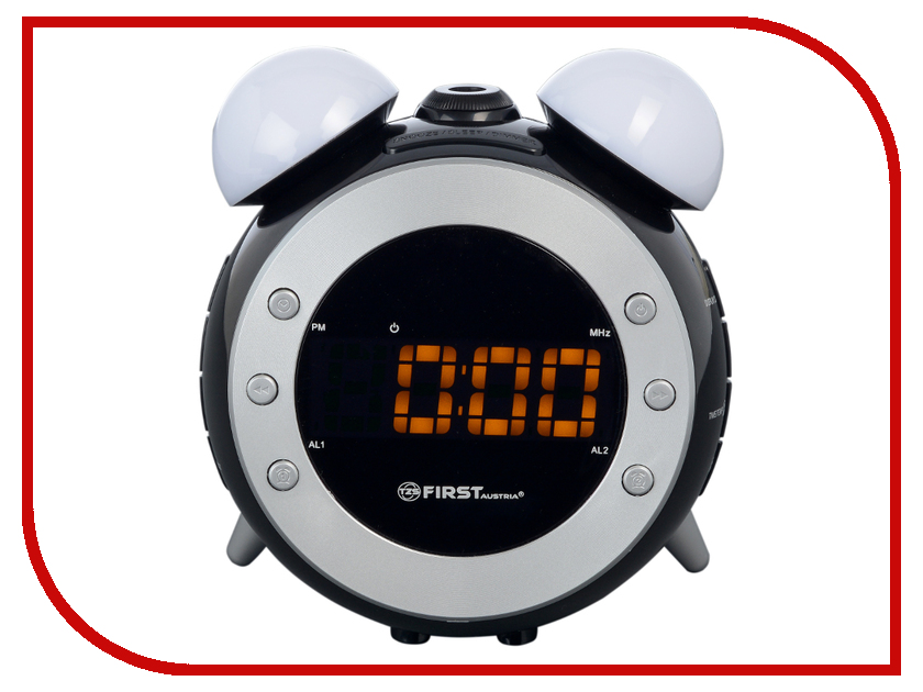 Часы First FA-2421-4 Black first fa 2421 4 black радиочасы c проектором