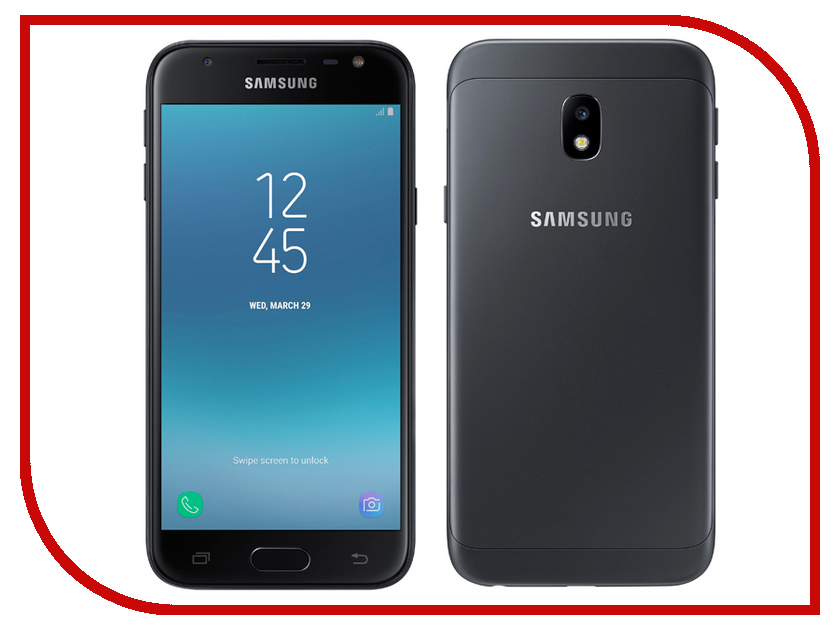 Сотовый телефон Samsung SM-J330F/DS Galaxy J3 (2017) Black сотовый телефон samsung sm j320f ds galaxy j3 2016 black