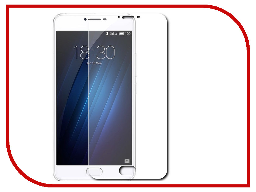 Аксессуар Защитная пленка для Meizu U10 5 Red Line глянцевая original lcd screen display touch panel digitizer with frame for 5 5 meizu mx5 mx 5 white or black free shipping