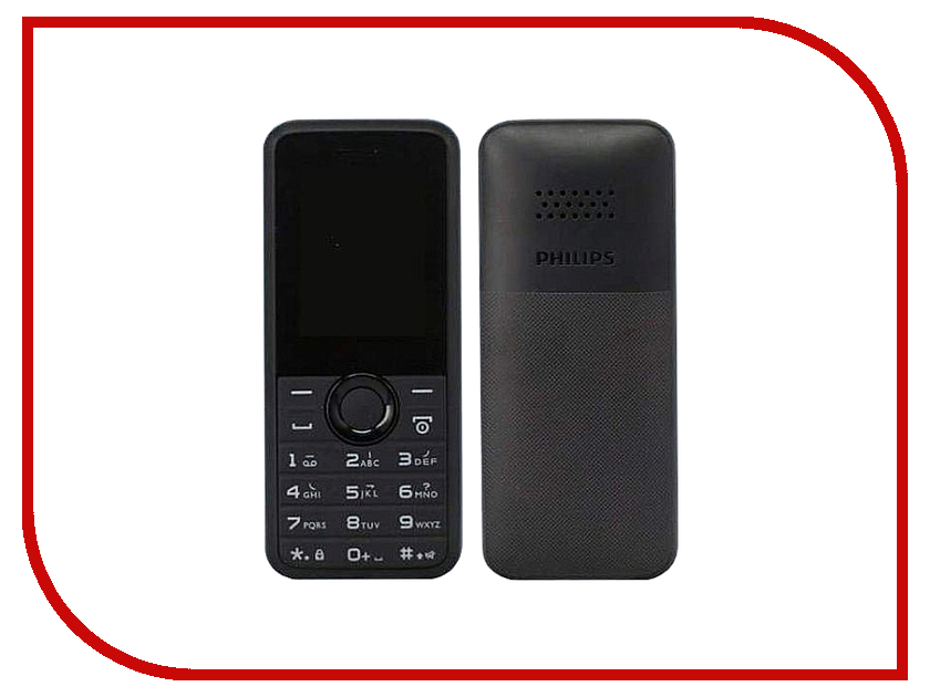 Сотовый телефон Philips E106 Xenium Black philips xenium e570