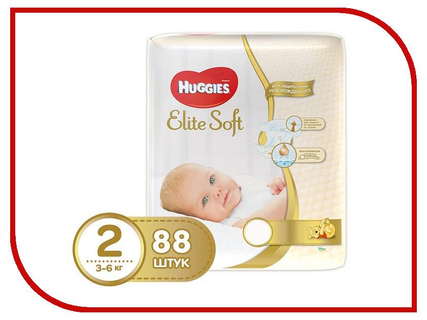 Подгузники Huggies Elite Soft 2 3-6кг 88шт