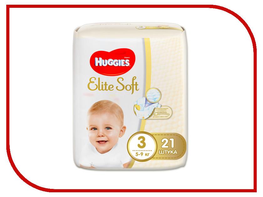 Подгузники Huggies Elite Soft 3 5-9кг 21шт