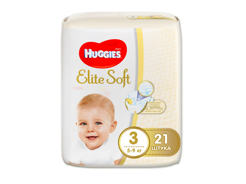 все цены на Подгузники Huggies Elite Soft 3 5-9кг 21шт онлайн