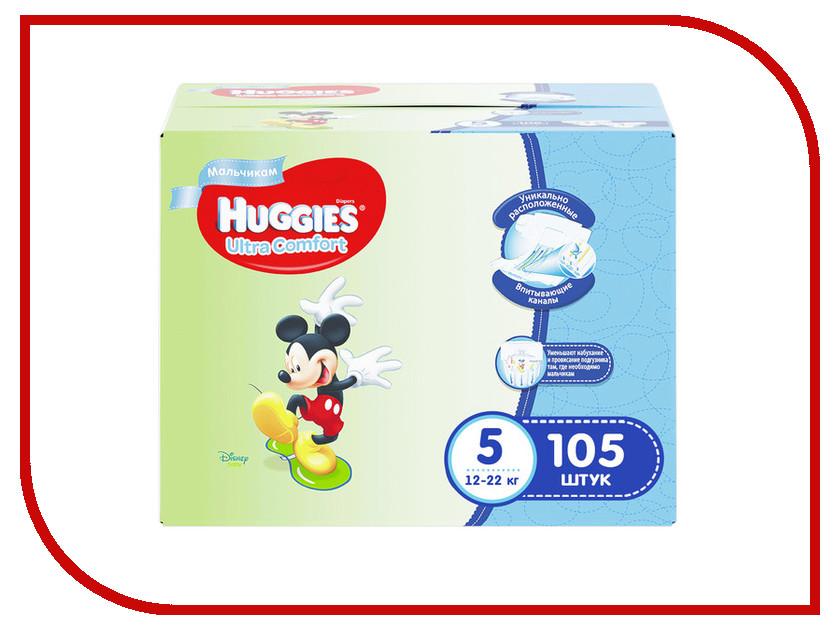 Подгузники Huggies Ultra Comfort 5 Disney 12-22кг 105шт для мальчиков huggies трусики подгузники 5 для мальчиков 13 17 кг disney box 48 2 96 шт huggies