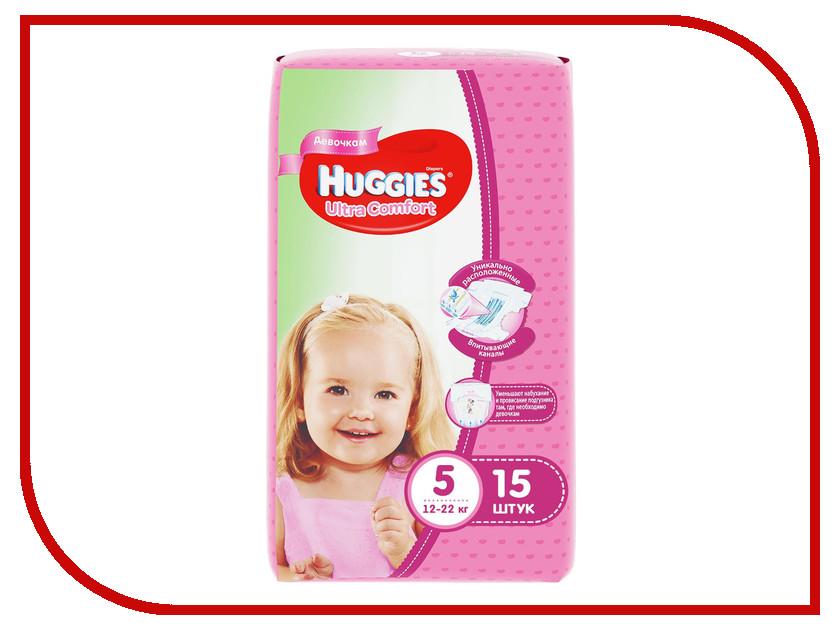 Подгузники Huggies Ultra Comfort 5 12-22кг 15шт для девочек