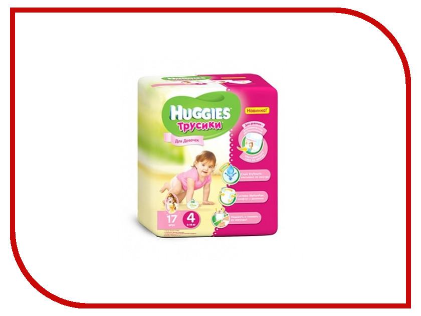 Подгузники Huggies Little Walkers 4 9-14кг 17шт для девочек
