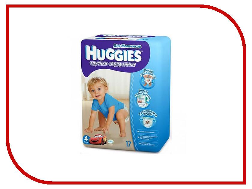 Подгузники Huggies Little Walkers 4 9-14кг 17шт для мальчиков