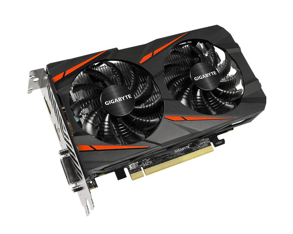 Видеокарта GigaByte Radeon RX 560 Gaming OC 4G 1234Mhz PCI-E 3.0 4096Mb 7000Mhz 128 bit DVI HDMI GV-RX560GAMING OC-4GD (rev. 2.0) видеокарта gigabyte pci e radeon r9 fury 4096mb ddr5 dvi hdmi 3xdisplayport 512bit ret gv r9furyywf3oc 4gd