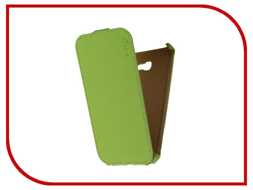 Аксессуар Чехол Samsung Galaxy A7 Snoogy иск. кожа Green SN-SM-a7/2017/-GRN-LTH
