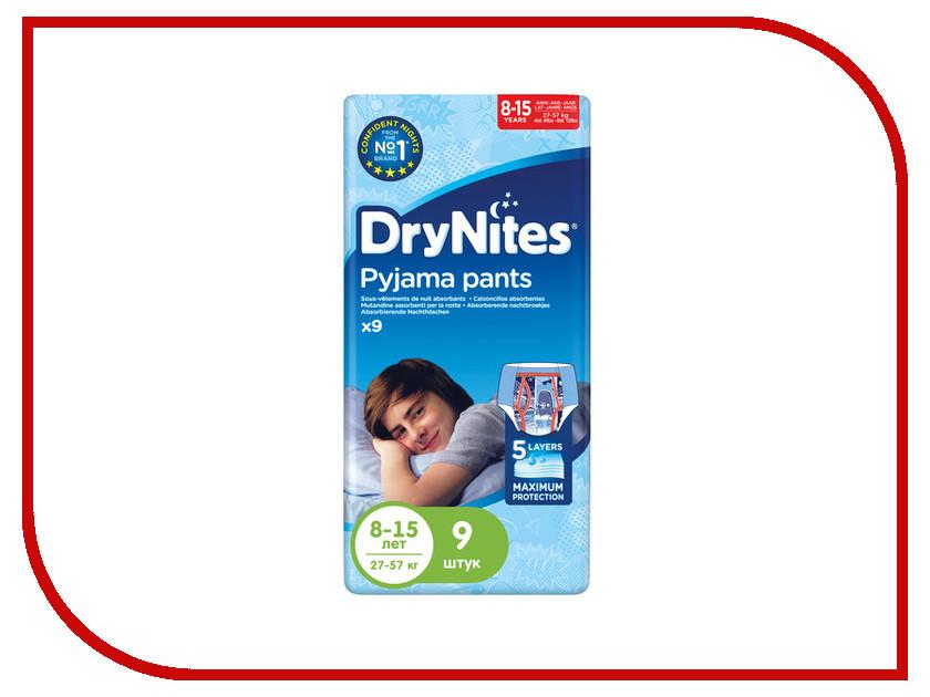 Подгузники Huggies DryNights 8-15лет 27-57кг 9шт для мальчиков
