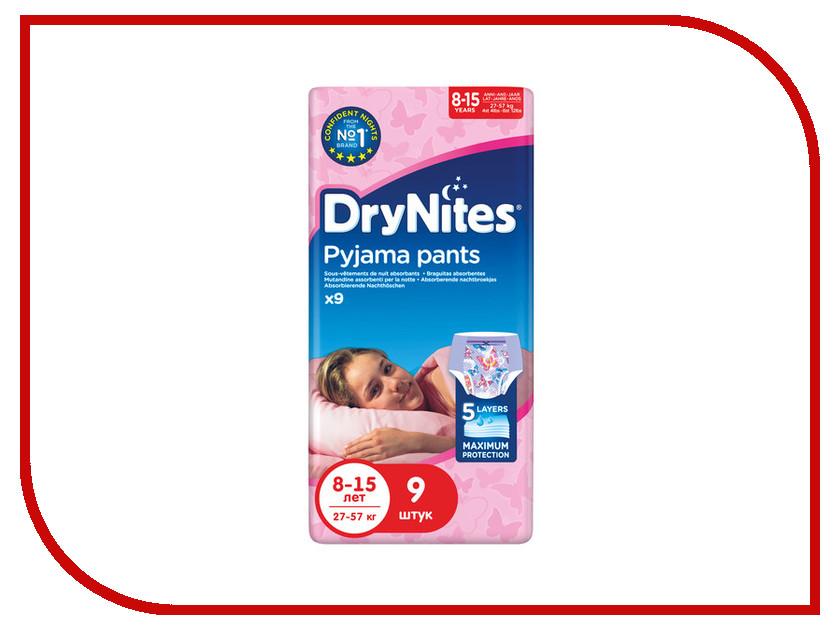 Подгузники Huggies DryNights 8-15лет 27-57кг 9шт для девочек