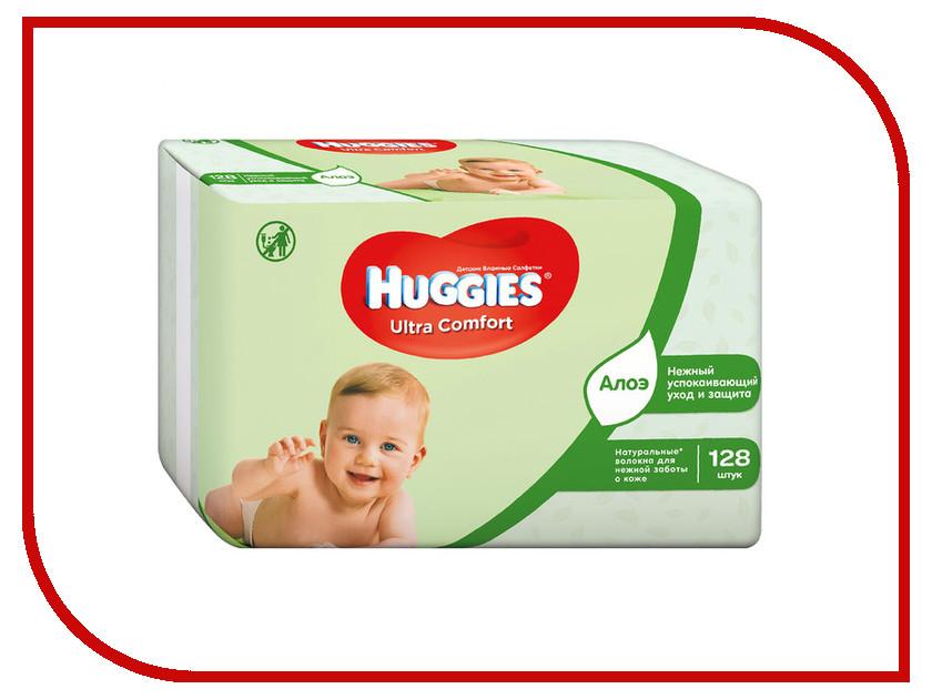 Салфетки Huggies Ultra Comfort Aloe 128шт