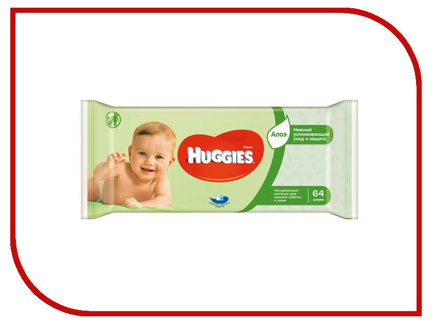 Салфетки Huggies Ultra Comfort Aloe 64шт
