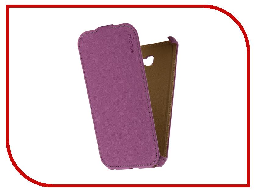 Аксессуар Чехол Samsung Galaxy A7 Snoogy иск. кожа Purple SN-SM-a7/2017/-VIOL-LTH sn mzb u10 brn lth snoogy