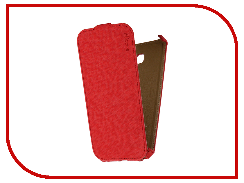 Аксессуар Чехол Samsung Galaxy A7 Snoogy иск. кожа Red SN-SM-a7/2017-RED-LTH