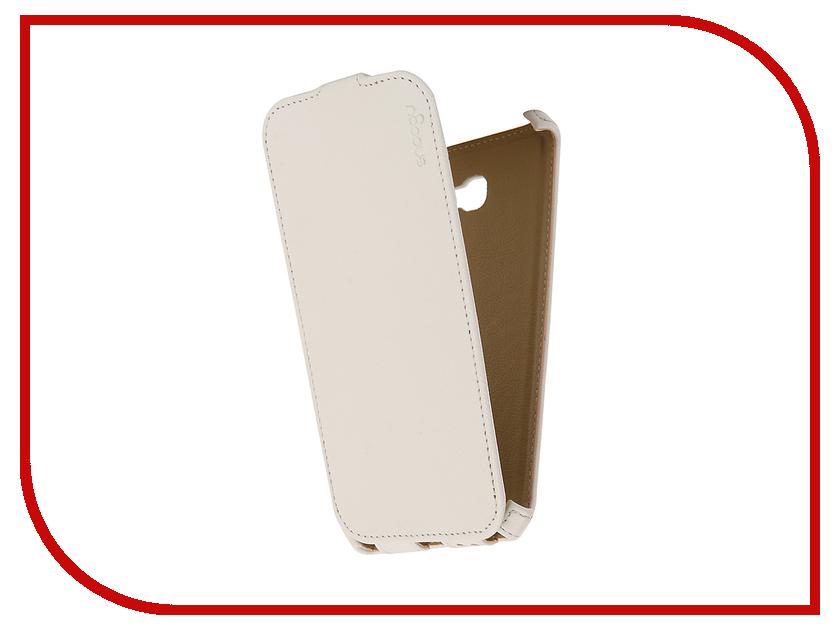 Аксессуар Чехол Samsung Galaxy A7 Snoogy иск. кожа White SN-SM-a7/2017-WHT-LTH