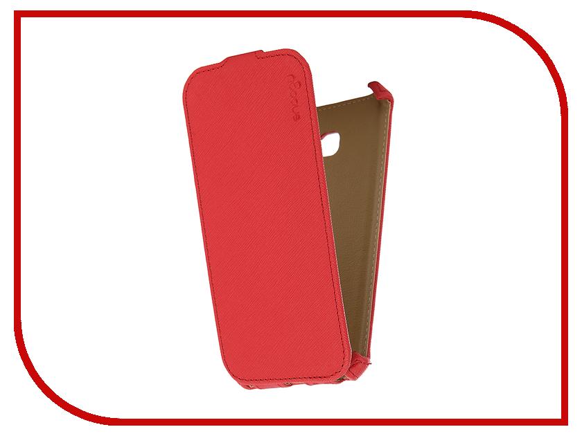 Аксессуар Чехол Samsung Galaxy A5 Snoogy иск. кожа Red SN-SM-a5/2017/-RED-LTH