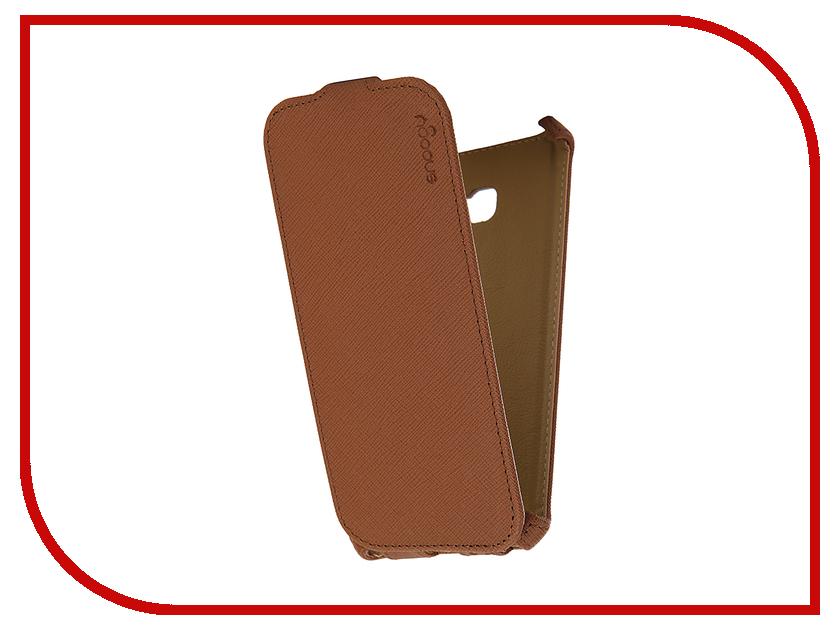 Аксессуар Чехол Samsung Galaxy A5 Snoogy иск. кожа Brown SN-SM-a5/2017/-BRN-LTH
