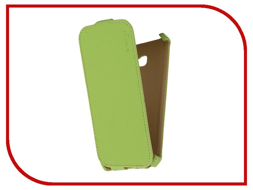 Аксессуар Чехол Samsung Galaxy A5 Snoogy иск. кожа Green SN-SM-a5/2017/-GRN-LTH