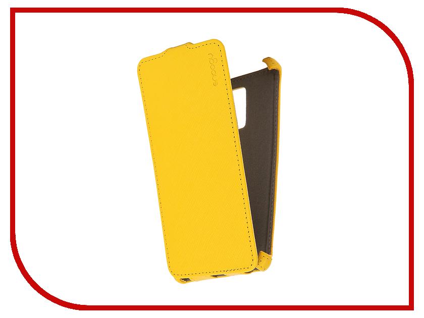 Аксессуар Чехол Huawei Honor 7 Snoogy иск. кожа Yellow SN-honor7-YEL-LTH
