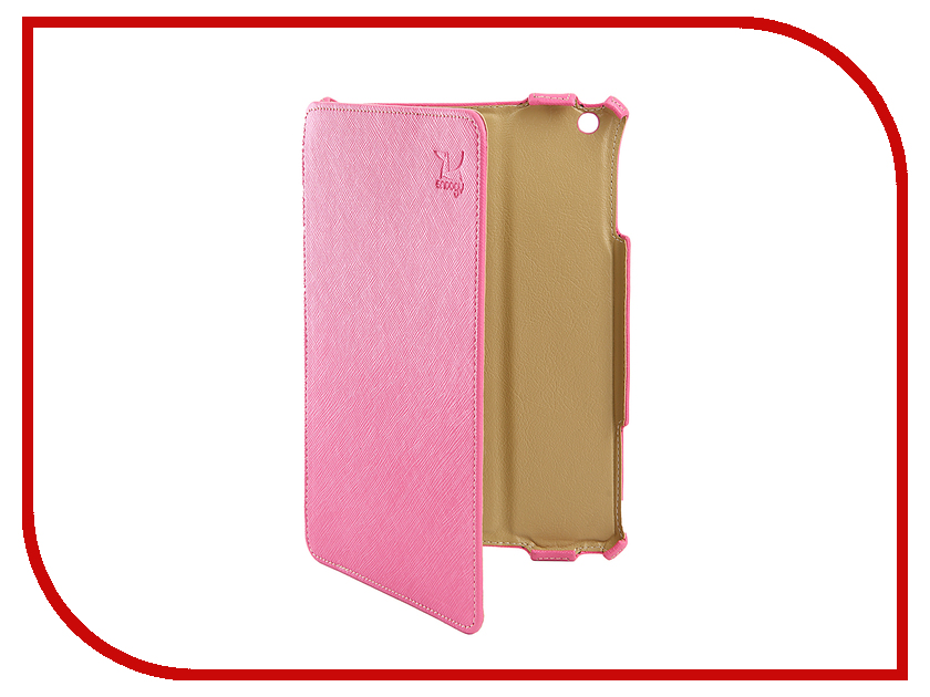 Аксессуар Чехол Snoogy для APPLE iPad mini 2 иск. кожа Pink SN-iPad-mini2-PINK-LTH mooncase view window leather side flip pouch ultra slim shell back чехол для htc one mini 2 m8 mini pink