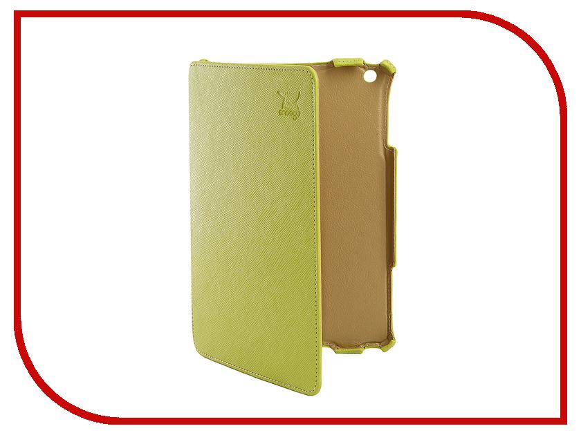 Аксессуар Чехол Snoogy для APPLE iPad mini 2 иск. кожа Green SN-iPad-mini2-GRN-LTH