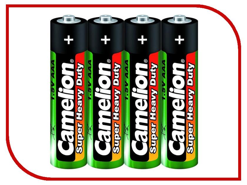 Батарейка AAA - Camelion Green R03 R03P-SP4G (4 штуки) батарейка aaa camelion blue r03 r03p bp4b 4 штуки