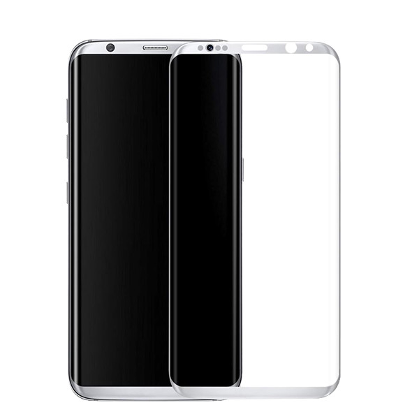 Аксессуар Защитное стекло Krutoff Group 3D для Samsung Galaxy S8 Silver 20211