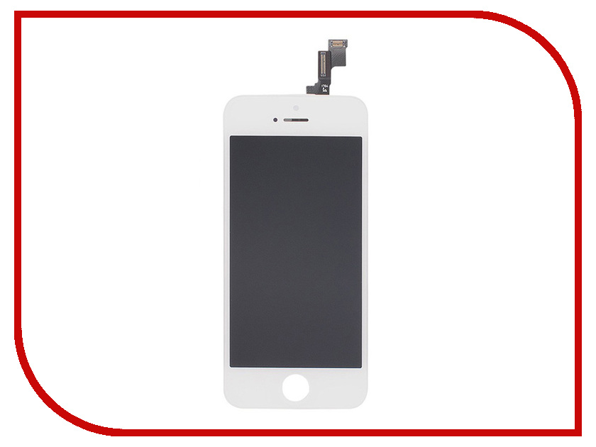 Дисплей Monitor LCD for iPhone 5S White protective pu leather flip open case for iphone 5 5s white