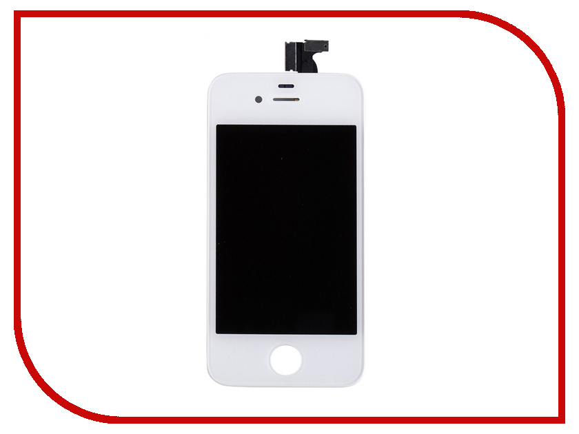 Дисплей Monitor LCD for iPhone 4 White